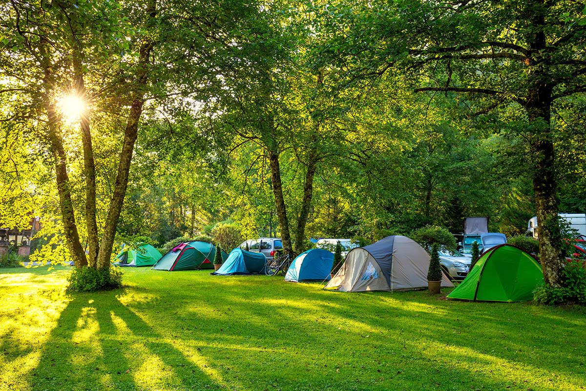 Tälta Lövekulle camping Alingsås